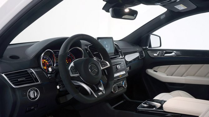 Brabus Mercedes-Benz GLE63 Coupe AMG B850 панель приборов 320