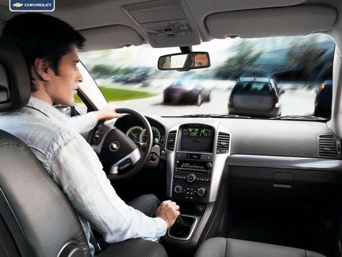 Chevrolet Captiva сиденье водителя