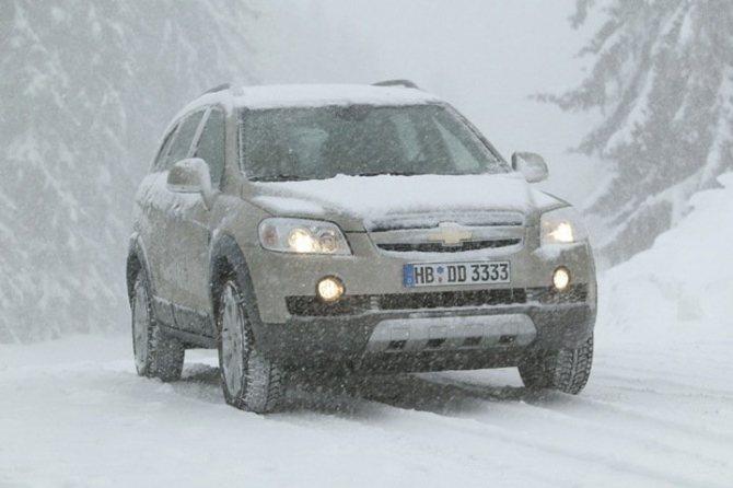 Chevrolet Captiva зимой