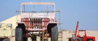 Джип арабского шейха достигает шести метров в высоту