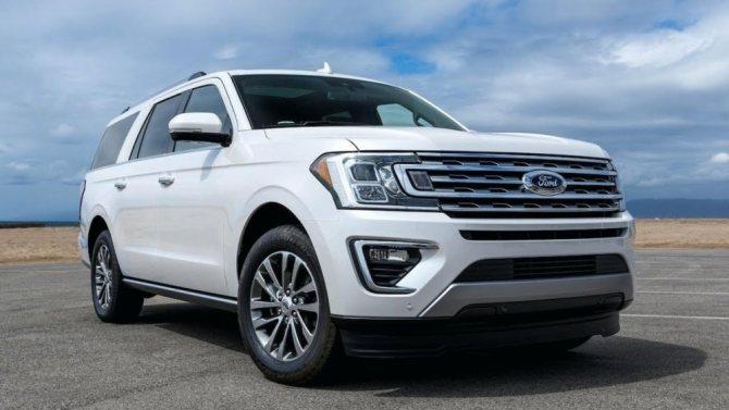 Ford Expedition 2020 белого цвета