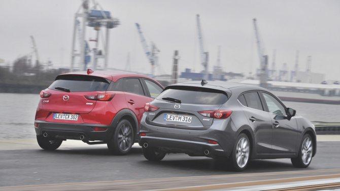 Mazda CX-3 против 3