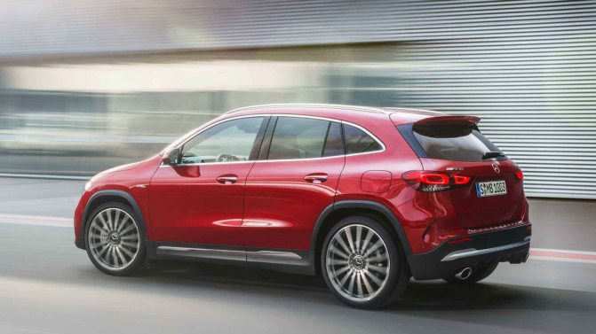 Mercedes GLA 2021 фото, технические характеристики, цена, экстерьер, внешний вид, вид сбоку