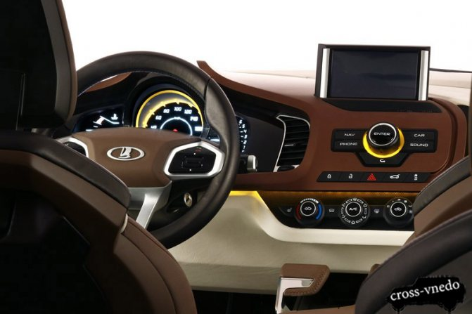 Салон автомобиля Lada XRAY